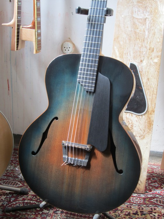 the dome uncut nylon string archtop jazz guitar. Black Bedroom Furniture Sets. Home Design Ideas